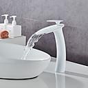 povoljno Slavine za umivaonik-Set za slavinu - Waterfall Slikano završi Središnje pozicionirane Jedan Ručka jedna rupaBath Taps