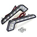 זול מנורות ערפל לרכב-1 יחידות צורת l 5 w led drl בשעות היום אורות ריצת מנורת ערפל לבן עבור בנץ c e s