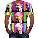 povoljno Biciklističke majice-Majica s rukavima Muškarci - Osnovni Dnevno Portret Duga