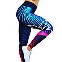 halpa Kuntoilu-, juoksu- ja joogavaatetus-Naisten Joogahousut Kuninkaallinen sininen Tummansininen Urheilu 3D-kuviointi Spandex Korkea vyötärö Pyöräily Sukkahousut Leggingsit zumba Juoksu Fitness Activewear Hengittävä Nopea kuivuminen Butt
