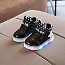 זול LED Shoes-בנים / בנות נעליים זוהרות PU נעלי ספורט ילדים קטנים (4-7) / ילדים גדולים (7 שנים +) הליכה LED לבן / שחור / ורוד אביב / קיץ / גומי