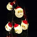 זול חוט נורות לד-1.5 m אורות מחרוזת 10 נוריות טבילה led לבן / לבן / רב צבע דקורטיבי / קישוט החתונה חג המולד סוללות aa מופעל 1 pc