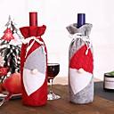 povoljno Pribor za piće-2pcs božićni pribor boca vina santa Mraz snjegović pokrivač boca set novogodišnja torba božićna večera božićni ukras