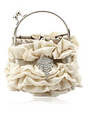 cheap Women's Skirts-Gorgeous Satin Shell Evening Handbags/ Clutches/ Top Handle Bags More Colors Available