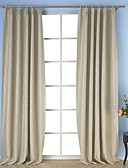 cheap Fashion Scarves-Rod Pocket Grommet Top Tab Top Double Pleat Two Panels Curtain Neoclassical, Embossed Solid Dining Room Polyester Material Curtains Drapes