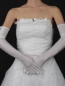 preiswerte Korsetts-Baumwolle / Satin Handgelenk-Länge / Opernlänge Handschuh Charme / Stilvoll / Brauthandschuhe Mit Stickerei / Einfarbig