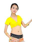 ieftine Ținută Dans din Buric-Dans din Buric Tops Pentru femei Antrenament Bumbac mercerizat Mânecă scurtă
