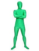 billige Kåper og trenchcoats-Zentai Drakter Ninja Zentai Cosplay-kostymer Grønn Ensfarget Trikot / Heldraktskostymer / Zentai Spandex Lykra Herre / Dame Halloween / Høy Elastisitet