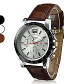 hesapli Elbise Saat-Erkek Bilek Saati Quartz Kapitoneli PU Deri Siyah / Beyaz / Kahverengi Gündelik Saatler Analog İhtişam Klasik Elbise Saat - Beyaz Siyah Kahverengi