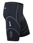 cheap Men's Belt-SANTIC Men's Cycling Padded Shorts - Black Solid Colored Bike Shorts Bottoms, 3D Pad Quick Dry Wearable, Spring Summer Fall, Nylon Spandex Coolmax® / High Elasticity / Breathable / Breathable