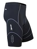 povoljno Haljine za male djeveruše-SANTIC Muškarci Biciklističke kratke hlače s jastučićima - Crn Bicikl Kratke hlače, Pad 3D, Quick dry, Prozračnost Spandex, Coolmax®