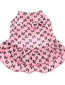 halpa Naisten kaksiosaiset asut-Koira Hameet Koiran vaatteet Rusetti Pinkki Puuvilla Asu Lemmikit