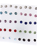 cheap Women's Tops-Women's Stud Earrings - Rhinestone Simple Style, Fashion Red / White For Party Daily Casual / 40pcs / 36pcs