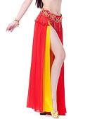 hesapli Göbek Dansı Giysileri-Göbek Dansı Etek Kadın's Eğitim / Performans Şifon Dalgalı / Ayrık Ön Etek / Balo Salonu