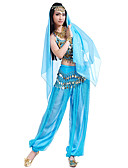 cheap Belly Dancewear-Belly Dance Outfits Women's Chiffon Beading / Sequin / Coin Top / Pants / Headwear / Performance