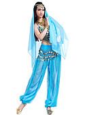 hesapli Göbek Dansı Giysileri-Göbek Dansı Kıyafetler Kadın's Şifon Boncuklama / Payet / Madeni Para Top / Pantalonlar / Başlık / Performans