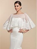 cheap Wedding Wraps-Sleeveless Lace Wedding Party Evening Wedding  Wraps Capelets