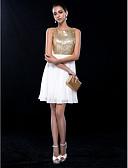 hesapli Balo Elbiseleri-A-Şekilli Taşlı Yaka Kısa / Mini Şifon Payetli Payet ile Kokteyl Partisi / Düğün Partisi Elbise tarafından TS Couture®