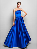 cheap Evening Dresses-A-Line Strapless Floor Length Satin Vintage Inspired Cocktail Party / Prom / Formal Evening Dress with Pleats by TS Couture®