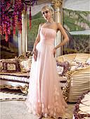 Χαμηλού Κόστους Βραδινά Φορέματα-Ίσια Γραμμή Στράπλες Μακρύ Τούλι Εμπνευσμένο από Βίντατζ Χοροεσπερίδα / Επίσημο Βραδινό Φόρεμα με Χιαστί / Πιασίματα με TS Couture®