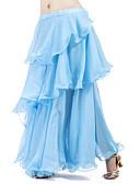 hesapli Göbek Dansı Giysileri-Göbek Dansı Etek Kadın's Eğitim Şifon Dalgalı / Fırfırlı Etek / Balo Salonu