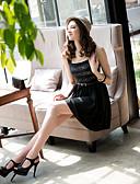 preiswerte Kleider-Damen A-Linie Kleid - Gefaltet, Gestreift Mini