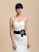 cheap Women's Belt-Lace / Satin Wedding / Party / Evening Sash With Beading Women's Sashes