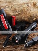 baratos Relógios de Pulseira-E007 Lanternas LED LED 2000 lm 5 Modo LED Com Pilhas e Carregador Zoomable Foco Ajustável Campismo / Escursão / Espeleologismo Uso Diário