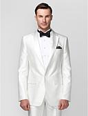 halpa Hääjuhlamekot-valkoinen polyesteri istuva kaksiosainen smokki
