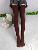 preiswerte Damen Socken & Strumpfwaren-Damen Strümpfe Baumwollmischung Patchwork Medium Schwarz Grau Braun Blau Khaki