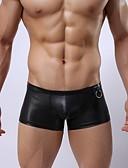 رخيصةأون ملابس داخلية وجوارب للرجال-للرجال مثير شورتات بوكسر سادة الخصر متوسط