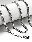 abordables Vaqueros-Hombre Collares de cadena - Titanio Acero Plata Gargantillas Joyas Para Regalos de Navidad, Boda, Fiesta, Diario, Casual, Deportes