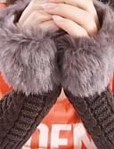 cheap Women's Sweaters-Women's Vintage Faux Fur Fingerless Gloves - Patchwork / Winter