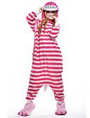preiswerte Hübsche sexy Damenkleidung-Erwachsene Kigurumi-Pyjamas Katze Pyjamas-Einteiler Polar-Fleece Rosa Cosplay Für Herren und Damen Tiernachtwäsche Karikatur Halloween Fest / Feiertage