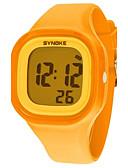 abordables Relojes de Moda-Mujer Reloj de Pulsera / Reloj digital Reloj Casual / Cool Silicona Banda Moda / Reloj de Vestir Naranja