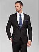 halpa Hääjuhlamekot-Räätälöity istuvuus Polyesteri Puku - Kapea lovi Yksirivinen yksi nappi / Suits