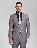 preiswerte Kleider für die Hochzeitsfeier-Reguläre Passform Polyester Anzug - Schlankes, fallendes Revers Einreiher - 1 Knopf