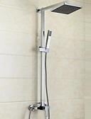 abordables Camisas de Hombre-Grifo de ducha - Moderno Modern Cromo Sistema ducha Válvula Cerámica