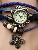 abordables Relojes de Moda-Mujer Reloj de Pulsera Cuarzo Gran venta PU Banda Analógico Mariposa Bohemio Moda Negro / Azul / Naranja - Café Verde Azul Un año Vida de la Batería / ETA 377A