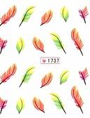 halpa Luistelumekot-1 pcs 3D Nail Stickers kynsitaide Manikyyri Pedikyyri Lovely Kukka / Cartoon / Muoti Päivittäin / Muovi / 3D-kynsitarrat