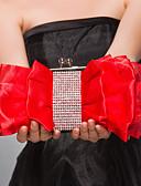 cheap Women's Skirts-Women's Bags Satin Evening Bag Zipper Fuchsia / Red / Almond