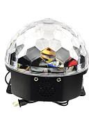 billige Brudesjaler-18w rgb led mp3-fase krystall magisk kulelampe eu (ac100-240v)