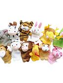 preiswerte Herren Unterwäsche & Socken-Fingerpuppen Marionetten Niedlich Neuartige lieblich Zeichentrick Textil Plüsch Mädchen Spielzeuge Geschenk 12 pcs