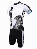 billige Triatlontøj-ILPALADINO Herre Kortærmet Cykeltrøje og shorts Cykel Tøjsæt, Åndbart, Hurtigtørrende, Ultraviolet Resistent Polyester Eagle
