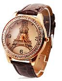 hesapli Elbise Saat-Kişiselleştirilmiş Hediye İzle, Analog Quartz İzle With Alaşım Kasa Malzemesi Deri Bant Moda Saat Su Direnci Derinlik