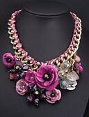 cheap Women's Scarves-Women's Hyperbole Flowers Alloy Necklac