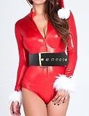 billige Kjoler-uniformer Cosplay Kostumer Dame Jul Festival / Højtider Halloween Kostumer Patchwork Sexede Uniformer