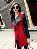 preiswerte Damen Pelzmantel-Damen-Einfarbig Schick & Modern Mantel Moderner Stil
