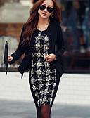 preiswerte Kleider-Damen Street Schick Bodycon Kleid - Patchwork, Schachbrett