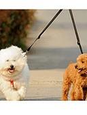 رخيصةأون ساعات فاخرة-قط كلب المقاود طوق مزدوج للكلاب مزدوج سادة نايلون أصفر أحمر أخضر أزرق زهري